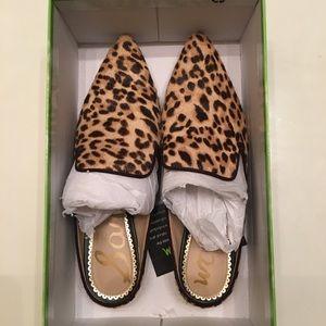 Sam Edelman Leopard calf hair mules